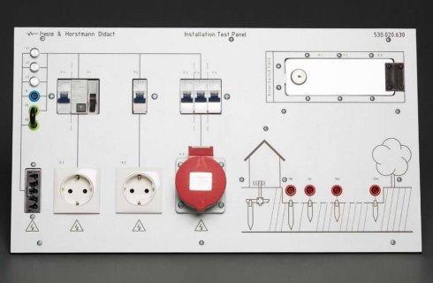 Panel testowania instalacji elektrycznej